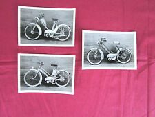 3 photos d'epoque cyclomoteur Lucien Michard