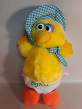 Playskool Sesame Street (Baby Bird) Big Bird Bonnet Diaper Vintage (1983) Plush