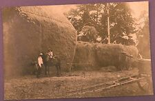 Original Early Postcard - Haymaking, Hay Stacking using Carrier System