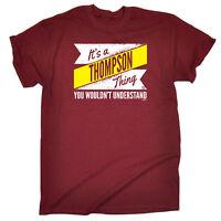 Funny Novelty T-Shirt Mens tee TShirt - Thompson V2 Surname Thing