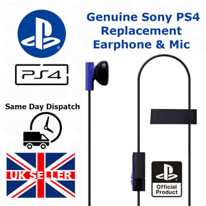 OFFICIAL GENUINE SONY PS4 MONO HEADPHONE EARPHONES WITH MIC PLAYSTATION 4 / PS5
