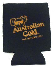 Australian Gold Live the Gold Life Beer Can Koozie Insulator New in Package