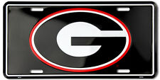 UNIVERSITY OF GEORGIA BULLDOGS CAR TRUCK TAG LICENSE PLATE BLACK G BULLDOGS SIGN