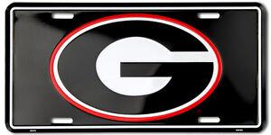 GEORGIA BULLDOGS CAR TRUCK TAG LICENSE PLATE BLACK G BULLDOGS SIGN UNIVERSITY
