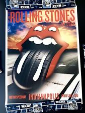 The Rolling Stones Tour Poster Indianapolis 7.4.15 Nascar Zip Code Indy Race Car
