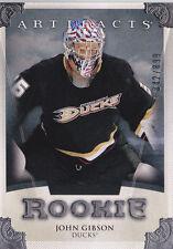 13-14 Artifacts John Gibson /899 Rookie Redemption Ducks 2013