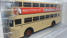 "MINICHAMPS    Scale  1:43  Büssing  D2U  "" Schultheiss  Bier ""   Used"