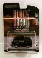 1973 '73 VOLKSWAGEN TYPE 2 WESTFALIA CAMPMOBILE BLACK BANDIT GREENLIGHT DIECAST