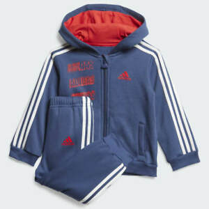 adidas boys / infant navy & red graphic tracksuit Ages 3-6M, 6-9M & 18-24M.