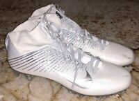 NIKE Vapor Untouchable 2 TD Mid White Silver Grey Football Cleats NEW Mens 11 12