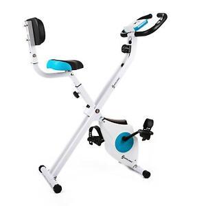 Vélo d'appartement pour cardio training fitness confort pliable 100kg bleu 1000