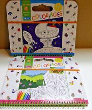 ALBUMS DE COLORIAGE  MONSTRES + JARDIN  AU SYCOMORE  REF CRE6025 + CRE6024
