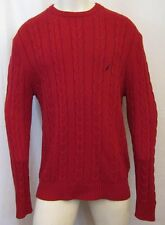 AUTHENTIC NAUTICA SIGNATURE ROPE KNITTED CREW NECK SWEATER SZ XL RED
