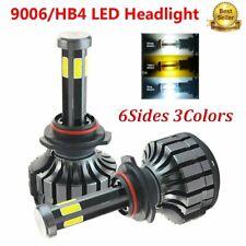 2Pcs 6Sides 9006 HB4 LED Headlight Kit Car Lights 3000K 6000K 8000K 32000LM 200W