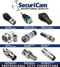 More details for cctv bnc coax crimp video rca phono rg59 balun utp cat5 connector joiner coupler