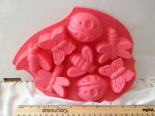 new silicone cake tray with butterflys and ladybirds