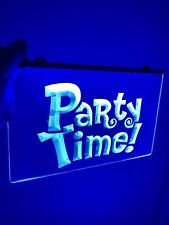 Party Time Signal Led Neon Sign for Game Room,Office,Bar,Man Cave. Brand New!