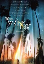 DISNEY'*A WRINKLE IN TIME*POSTER RELEAS MAR 9.OPRAH WINFREY* RARE COMIC-CON ISSU
