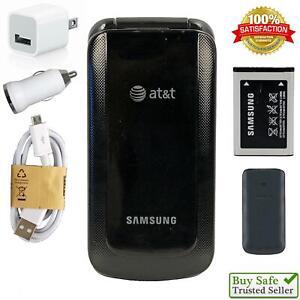 Samsung GO Flip (AT&T) 3G GSM Flip Phone SGH-A157V 🌟 Fast Ship 🌟
