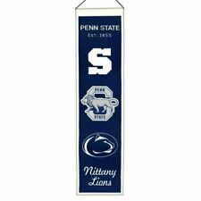 Penn State Nittany Lions Heritage Banner - Genuine Wool Blend Hanging Decor