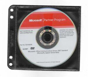 Microsoft Office Communications Server 2007 Standard Edition DVD
