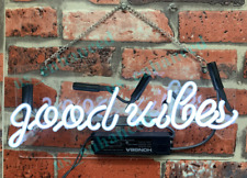 New Good Vibes Wall Decor Neon Light Sign 14'' ship from USA