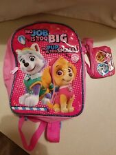 """PAW PATROL """"NO JOB IS TOO BIG NO PUP IS TOO SMALL"""" PINK BACKPACK FREE SHIPPING"""