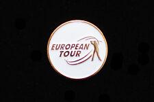 EUROPEAN TOUR White Golf Ball Marker