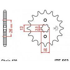 Pignon acier 12 dents jt chaîne 420 suzuki lt50 Jt sprockets JTF563.12