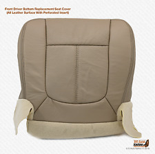2011 2012 Ford F250 Lariat Front Driver Bottom Perforated Leather Seat Cover Tan