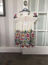 John Lewis White Cream Flower 8 Years Summer Dress 100% Cotton Brand New RRP £26