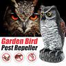 Gartenfigur Eule Uhu Tierfigur Dekofigur Vogelschreck Taubenschreck