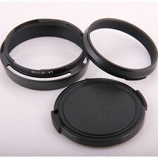 Lens Hood LA-49X100 Adapter Ring + Lens cap For Fujifilm X100 X100s X100T Black