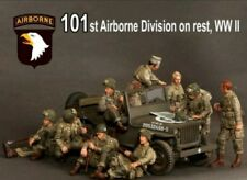1:35 Scale US 101st Division 'at rest' World War 2, 9 figures, Resin Model Kit