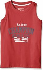 CHAMPION boys tank top, T-shirt, top, sports, leisure, Red, M