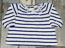 🎀 3 mois PETIT BATEAU - AUB09 ~ Haut / Tee-shirt ML blanc rayé Fille 🎀