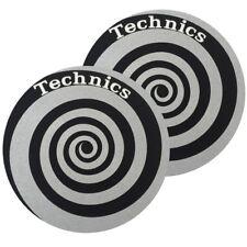 TECHNICS SLIPMATS coppia di panni sottodisco per giradischi (SPIRAL SILVER)