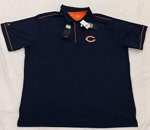Men's Chicago Bears Antigua Salute Polo Authentic NWT Size 2XL Navy Comfortable