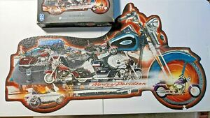 FX Schmid Harley-Davidson Motorcycles Puzzle 3 Foot Long 1000 PC - 1 PC Missing
