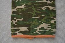 Orange Trim Green Tan Camo Baby Blanket Security Lovey Camouflage Hunting