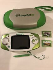 LeapFrog Leapster GS Handheld Learning System w/ Travel Case & 2 Games! (WORKS)