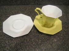 Independence Ironstone Interpace JAPAN Yellow Cup & Saucer + 1 White Saucer 3 pc