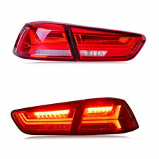 LED Tail Lights For MITSUBISHI LANCER/EVO X 2008-2017 Projector Red Clear