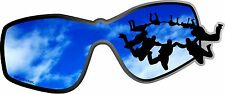 "1- 2.5"" x 6"" Skydiving Blue Skies Decal Sticker Parachute Flat Flying Mask 2180"