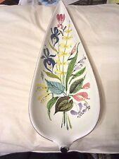 Stig Lindberg Gustavsberg Studio Faience Large Leaf Bowl Sweden Floral 1950's NR