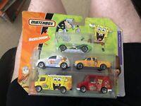 Matchbox Nickolodeon 5 Car Die Cast Gift Pack New MIB