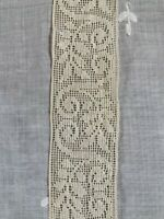 Genuine Antique 100% Cotton French Ivory Lace Trim for Sewing.