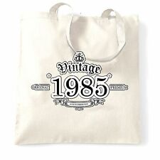 33rd Birthday Tote Bag Vintage 1985 Aged To Perfection Thirty Third Gift