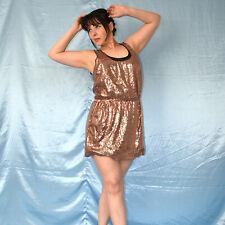 bronze Pailletten ABENDKLEID* M Cocktailkleid* Etuikleid* Sommerkleid* Minikleid