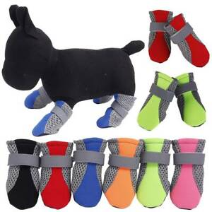 Pets Dogs Anti-Slip Shoes Boots Paw Protector Elastic Booties Mesh Breathable